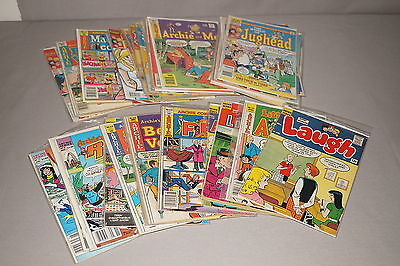 Vintage 1960's-70's Archie Comic Book Group Lot Collection Of 40 Comics (#6)