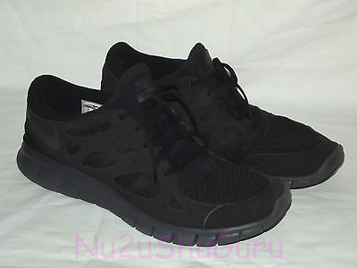 NIKE Free Run 2 All Black Running Sneakers Mens Size 14