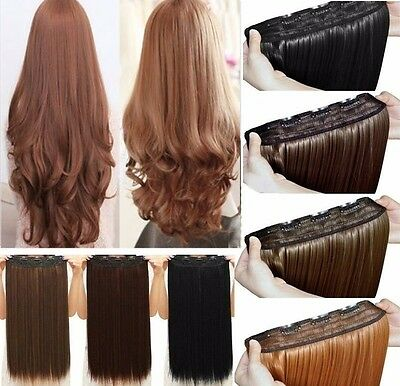 2-6 Days Delivery Clip in Hair Extensions One Piece Real Thick Natural as Human