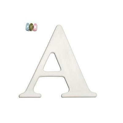 "Babies""R""Us 7254 A White Wooden Personalizable Nursery Letter Wall Decor BHFO"