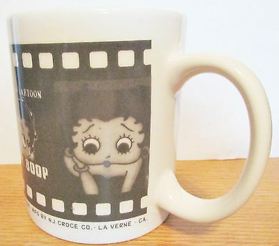 Betty Boop  Vintage Cartoon Cup  1998 King Features  Black & White Film