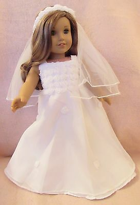 White Communion Dress Set fits American Girl Doll18 Inch Clothes Seller lsful