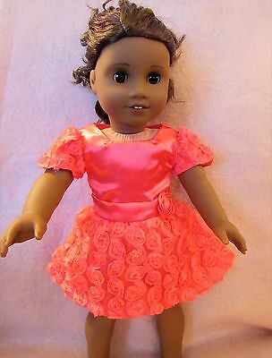 Coral Roses Dress Set fits American Girl Doll18 Inch Clothes Seller lsful