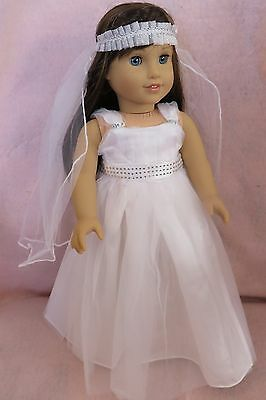 Communion Dress Set 5 fits American Girl Doll18 Inch Clothes Seller lsful