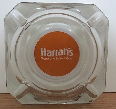 Harrah's Vintage Old Orange Ashtray