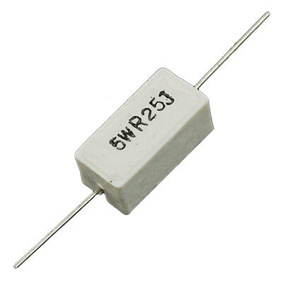2R4  2,4 Ohm   10W Hochlast Widerstand Drahtwiderstand Zement  axial NEW 2 pcs