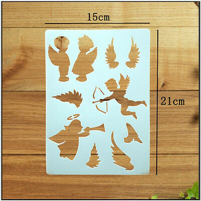 1 DIY Craft Angel Layering Stencils Walls Painting Scrapbooking Stamps Album