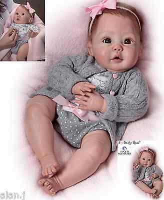 Ashton Drake doll Cuddly Coo! Interactive - coos - poesable - knitted outfit
