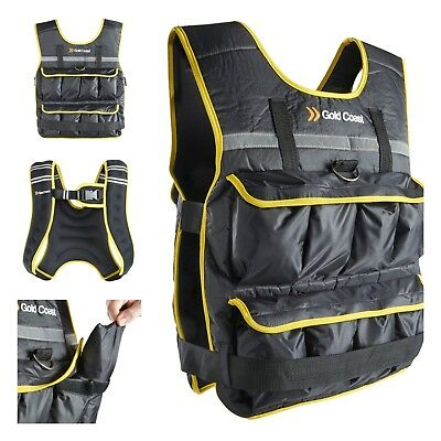 Gold Coast 5, 10, 20kg Adjustable Weight Vest – Running, Strength Training, Gym