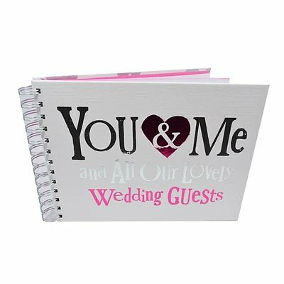 Wedding Guests Book ~ 'YOU & ME and all our lovely guests'