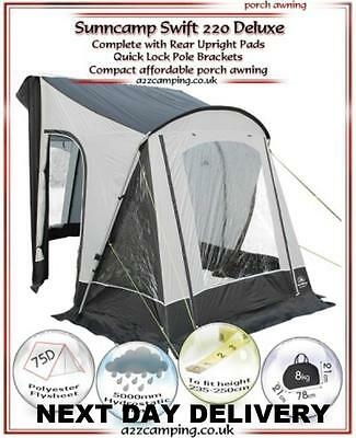 New 2017 Sunncamp Swift 220 Deluxe Caravan Porch Awning With Rear Upright Pads