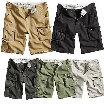 Surplus Trooper Vintage Shorts Bermuda kurze Hose Cargo Chino Beach Short ARMY