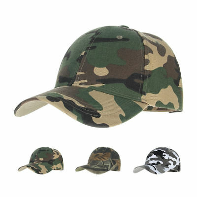 Mens Army Hats Baseball Cap Camouflage Sun Hat New Outdoor Camo Adjustable