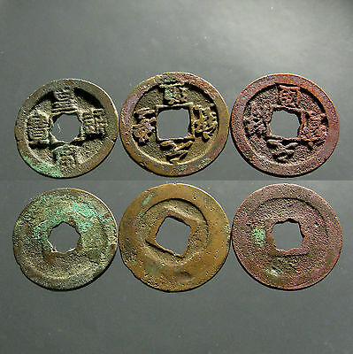 3 NORTHERN SONG DYNASTY AE'S_____960-1127 AD___Golden Age of China____HOARD FIND