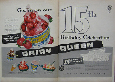 Dairy Queen Ad -1955 - 15th Birthday