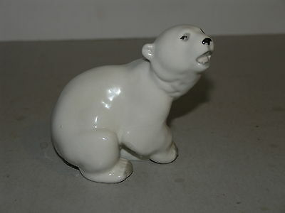 Lomonosov Russian Porcelain Small POLAR BEAR Figurine 4.5""