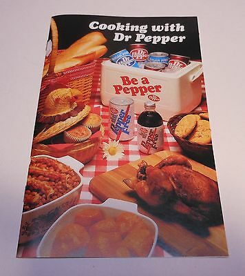 "Vintage Dr Pepper 1983 ""Cooking with Dr Pepper"" Booklet"