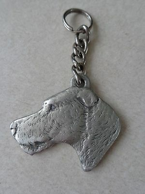 1983 Pewter I Love My Irish Wolfhound Dog Rawcliffe Key Ring Pendant Ornament