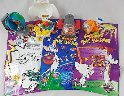 WB Pinky and the Brain LOT 4 Toys & Bags Warner Brothers Looney Tunes Bros Set