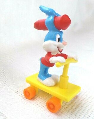 Buster Bunny Tiny Toons PVC toy Figure Scooter Rocket Ride '90 Applause wb lot