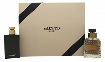 Valentino Uomo Gift Set 50Ml Edt + 100Ml Shower Gel - Men's For Him. New