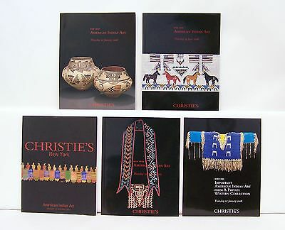 Lot Collection 5 Christie's American Indian Art Auction Catalogs