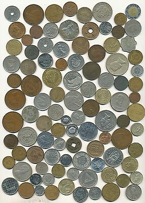 Assorted World Coin Lot Of 100 Coins
