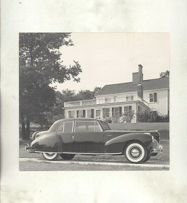 1941 Lincoln Continental Coupe ORIGINAL Factory Photograph ww7505