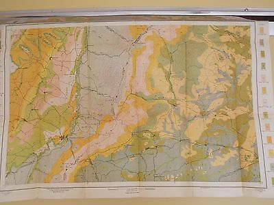 Antique 1902 Soil Map Waynesboro Virginia Ivy Crozet Fishersville Approx 32 X 21