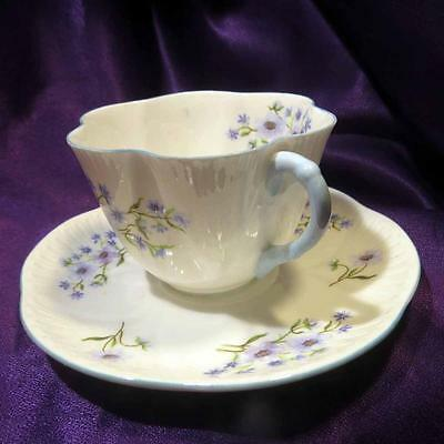 """Shelley """"Blue Rock"""" Cup and Saucer Dainty Shape-England"""