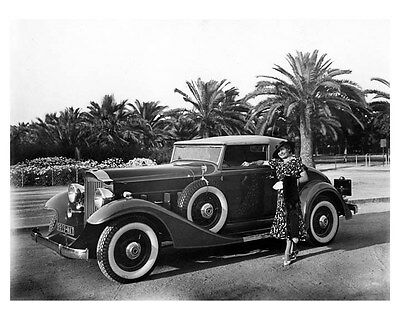 1933 Packard 8 Coupe Roadster ORIGINAL Factory Photo Camille Vierpont oub2696
