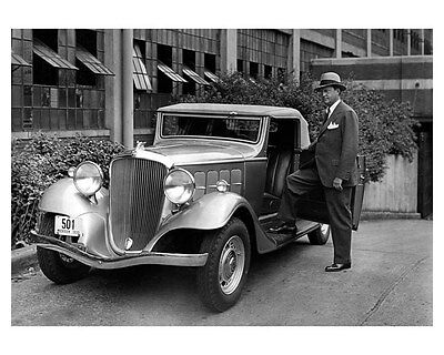 1933 Hudson Terraplane Convertible Coupe ORIGINAL Factory Photo Chapin oub2694