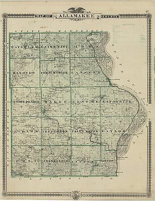 1875  Map of Allamakee County, IOWA