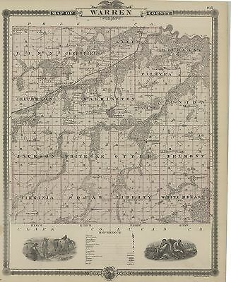 1875  Map of Warren County, IOWA [Indianola]]