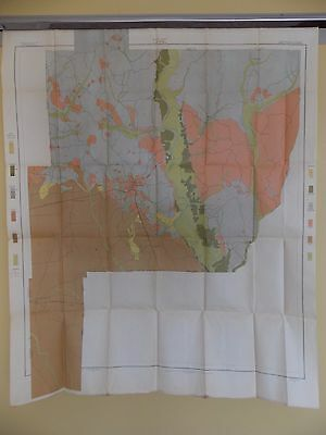 Antique 1902 Soil Map Perry County Alabama  Approx 34 X 42