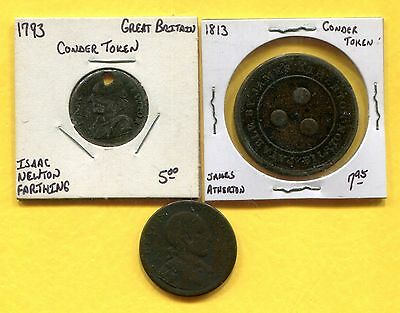 Lot of 3 Conder Tokens