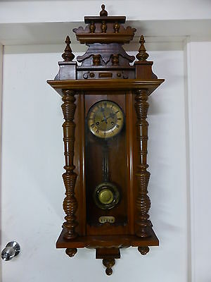 antique German JUNGHANS 8-day chime wall clock