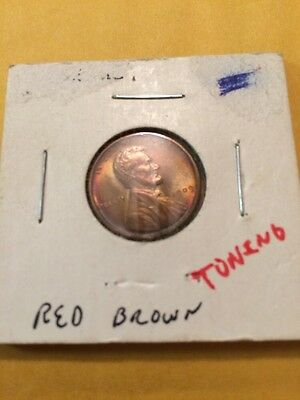 1909 Vdb Lincoln Cent Great Red & Brown Toning Coin!!!