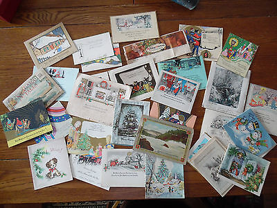 Lot of 31 vintage Christmas cards