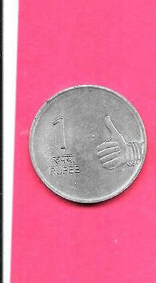 India Indian Km331 2010-B Vf-Very Fine-Nice Large New Rupee Coin