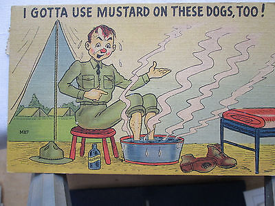 Vintage Postcards lot of 4 Comic WWII Army Humor #2