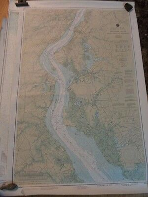 Noaa Navigation Chart #12311 For Delaware River, Smyrna River to Wilmington