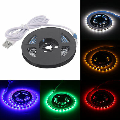USB LED Strip Lights SMD3528 200CM LED Tape Lamps Indoor Outdoor XRAU