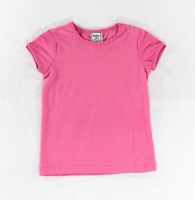 Cotton Kids NEW Solid Hot Pink Baby Girl's Size 4T Short Sleeve Shirt #512