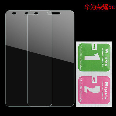 2PCS 9H Real Tempered Glass Film Screen Protector For Huawei Honor 7 Lite /5C