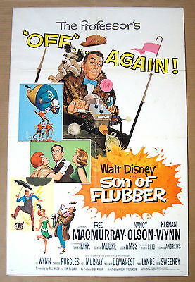 SON OF FLUBBER Walt Disney FRED MACMURRAY Tommy Kirk 27x41 MOVIE POSTER