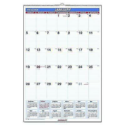 "AT-A-GLANCE Wall Calendar 2017, Monthly, 20 x 30"", Wirebound (PM428) New"