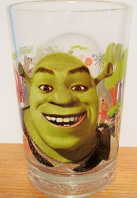 Shrek   2007 Mcdonalds  Beware Of Ogres   Promotional Heavy Duty Glass