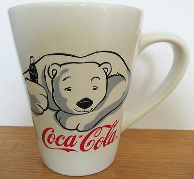 "Coca Cola   2001 Polar Bear By Gibson   Large Cup   4 1/2"" Tall   14 Oz"