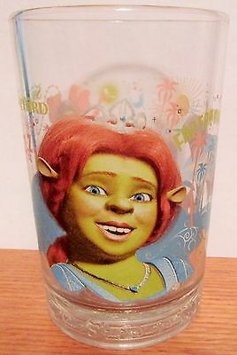 Fiona      Shrek The Third  2007 Mcdonalds     Promotional Heavy Duty Glass